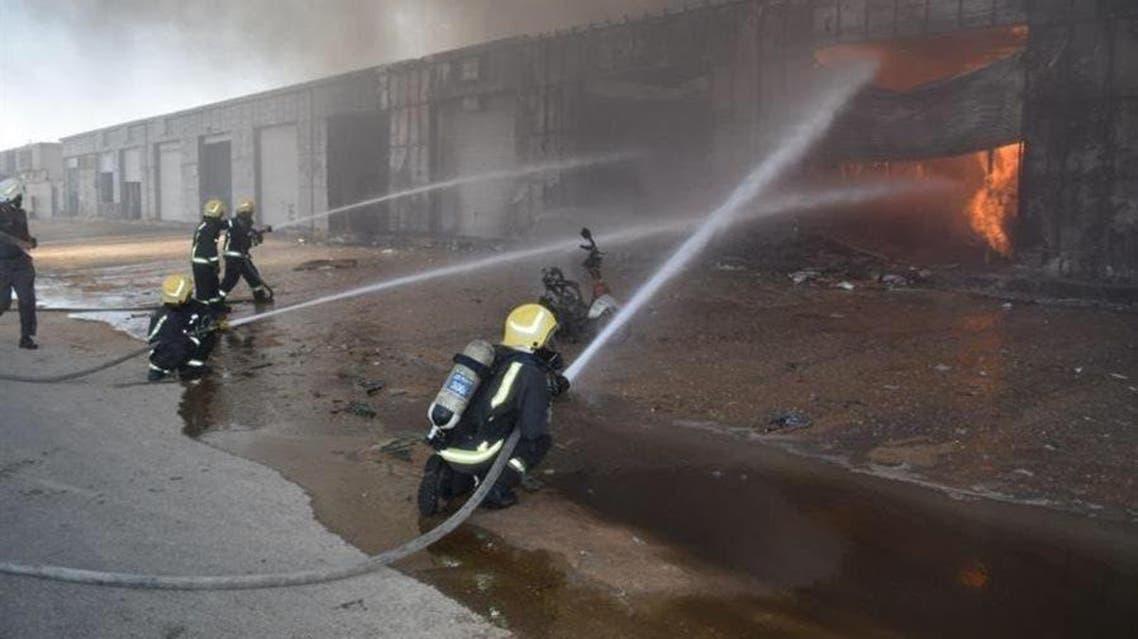 الجنادریہ میں آتشزدگی