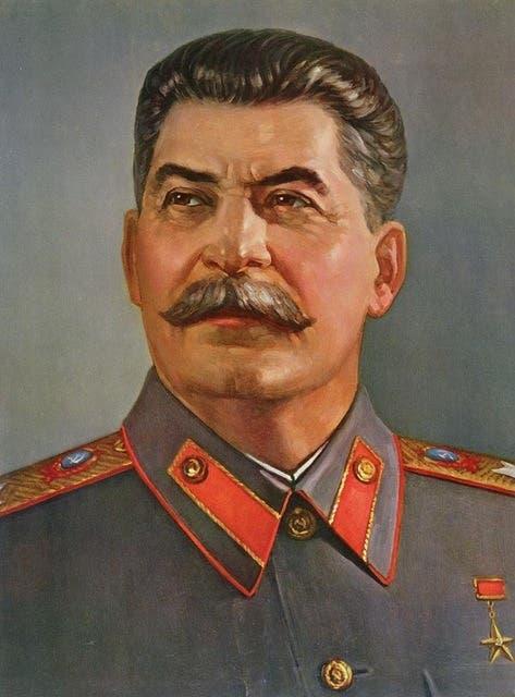 لوحة تجسد القائد السوفيتي جوزيف ستالين