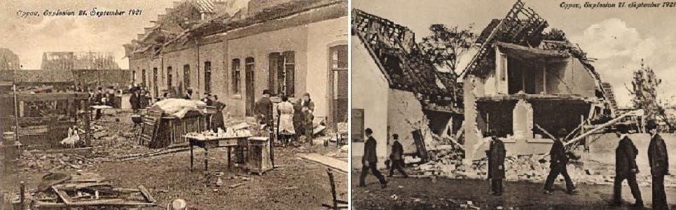 الخراب والدمار والتصدع هو ما بقي من البلدة بعد الانفجار