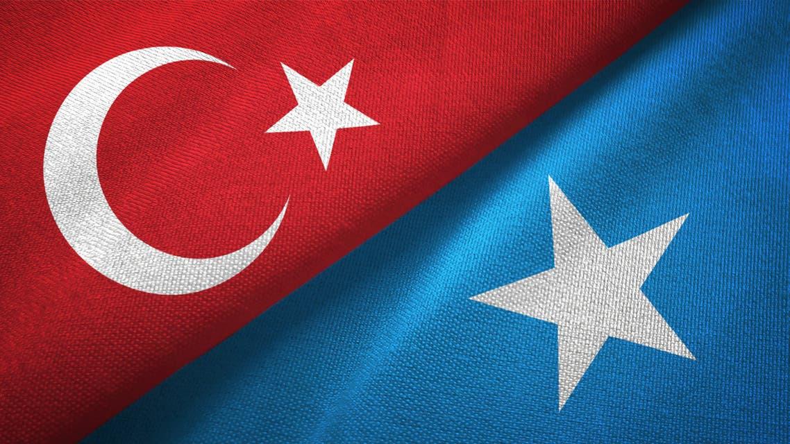 أعلام الصومال وتركيا