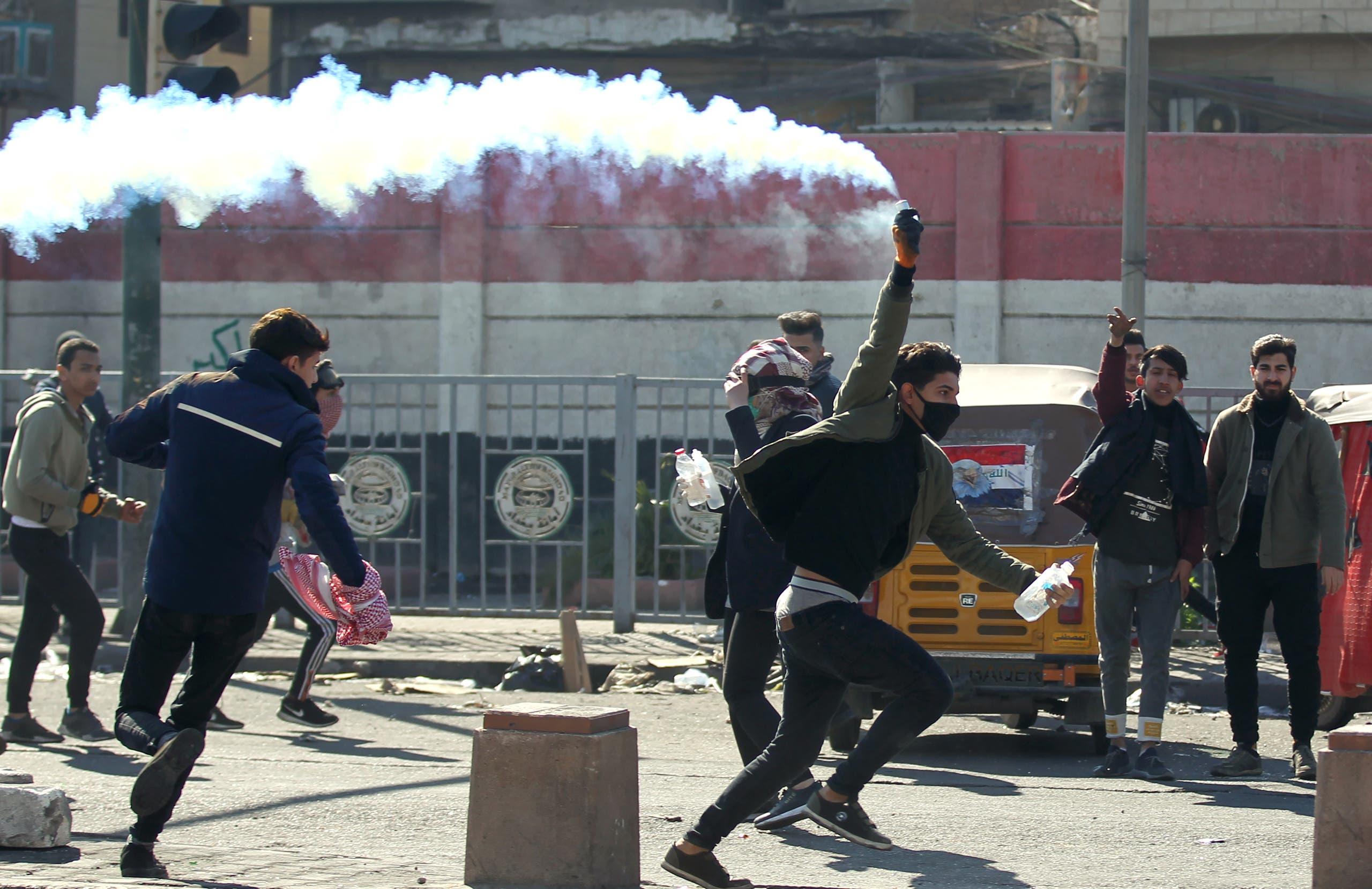 احتجاجات في بغداد في يناير الماضي