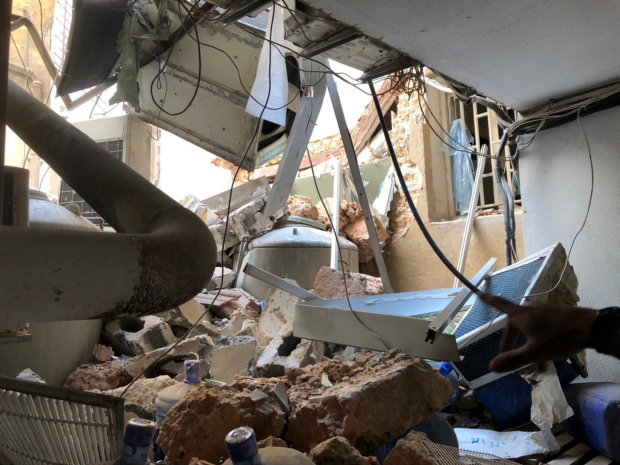 Nails & Spa, a trendy salon in Beirut, Lebanon, was heavily damaged in the August 4 explosion at the Port of Beirut. (Bassam Zaazaa)