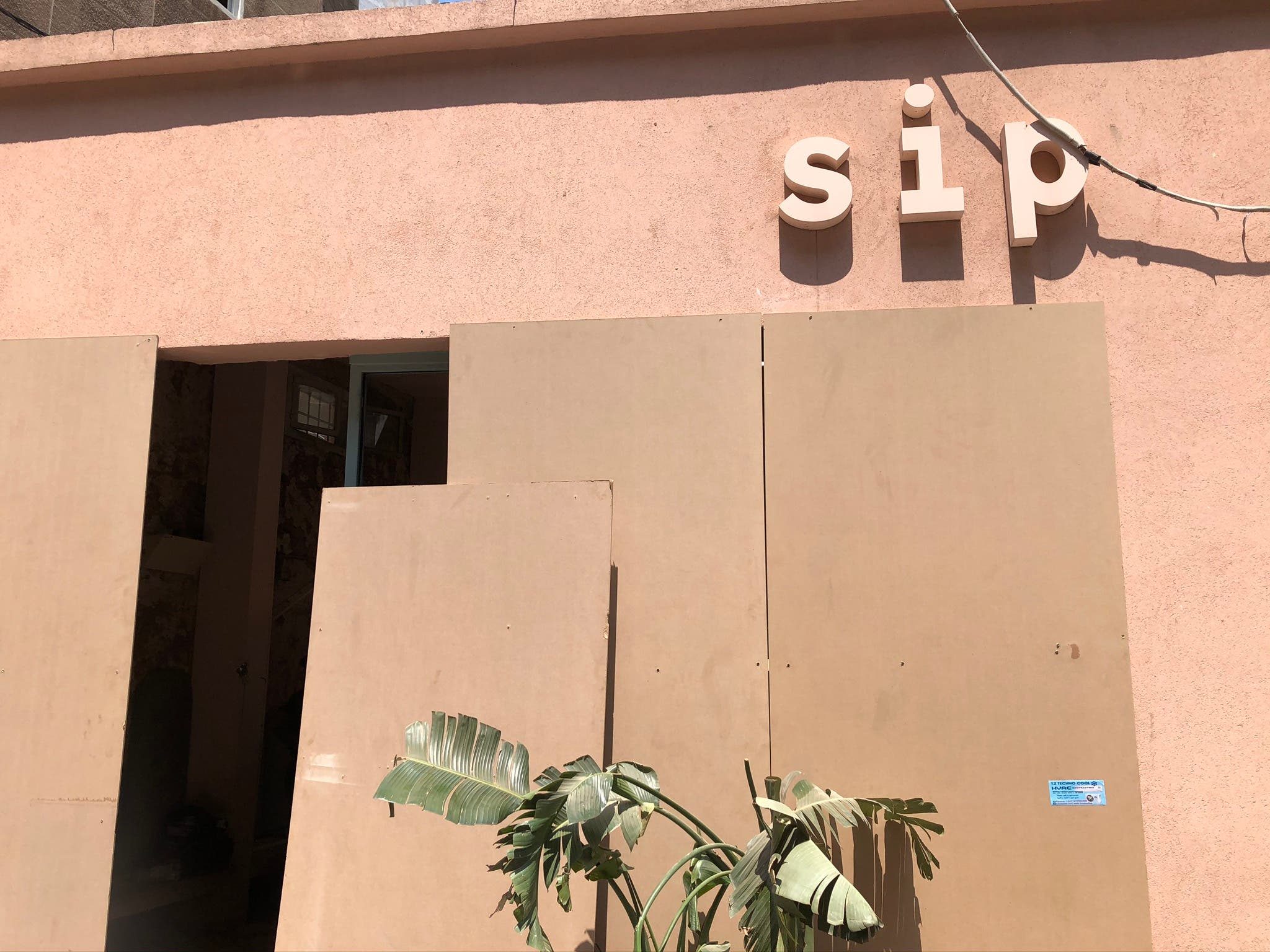 Sip cafe, located in a trendy Beirut neighborhood, was badly damaged in the August 4 explosion at port in Lebanon's capital. (Bassam Zaazaa)