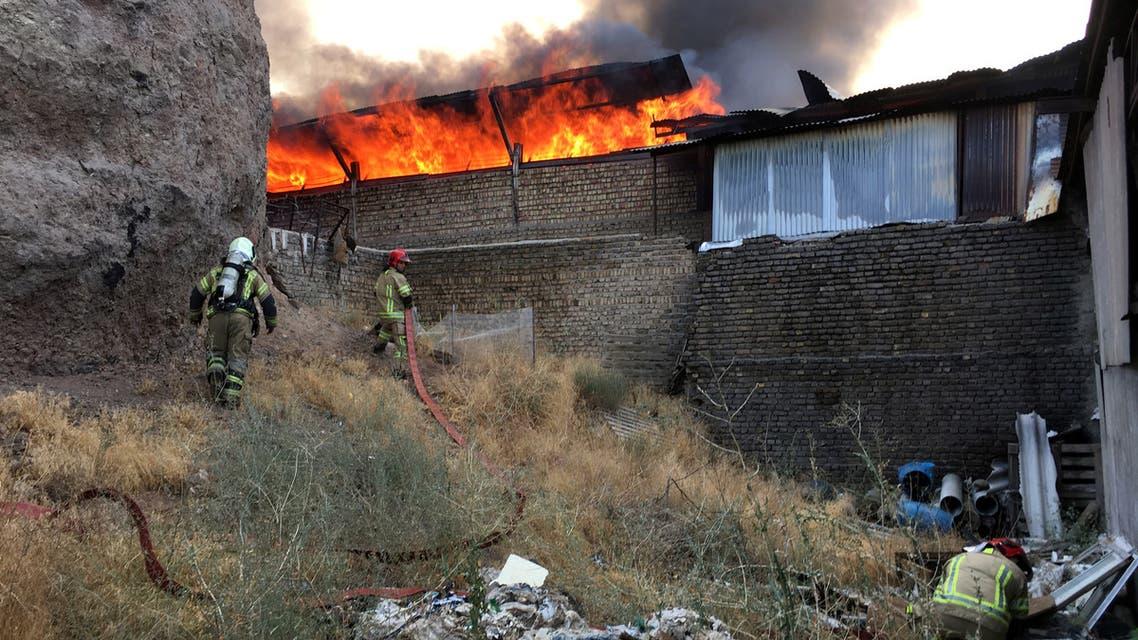 حريق قرب طهران (أرشيفية- رويترز)