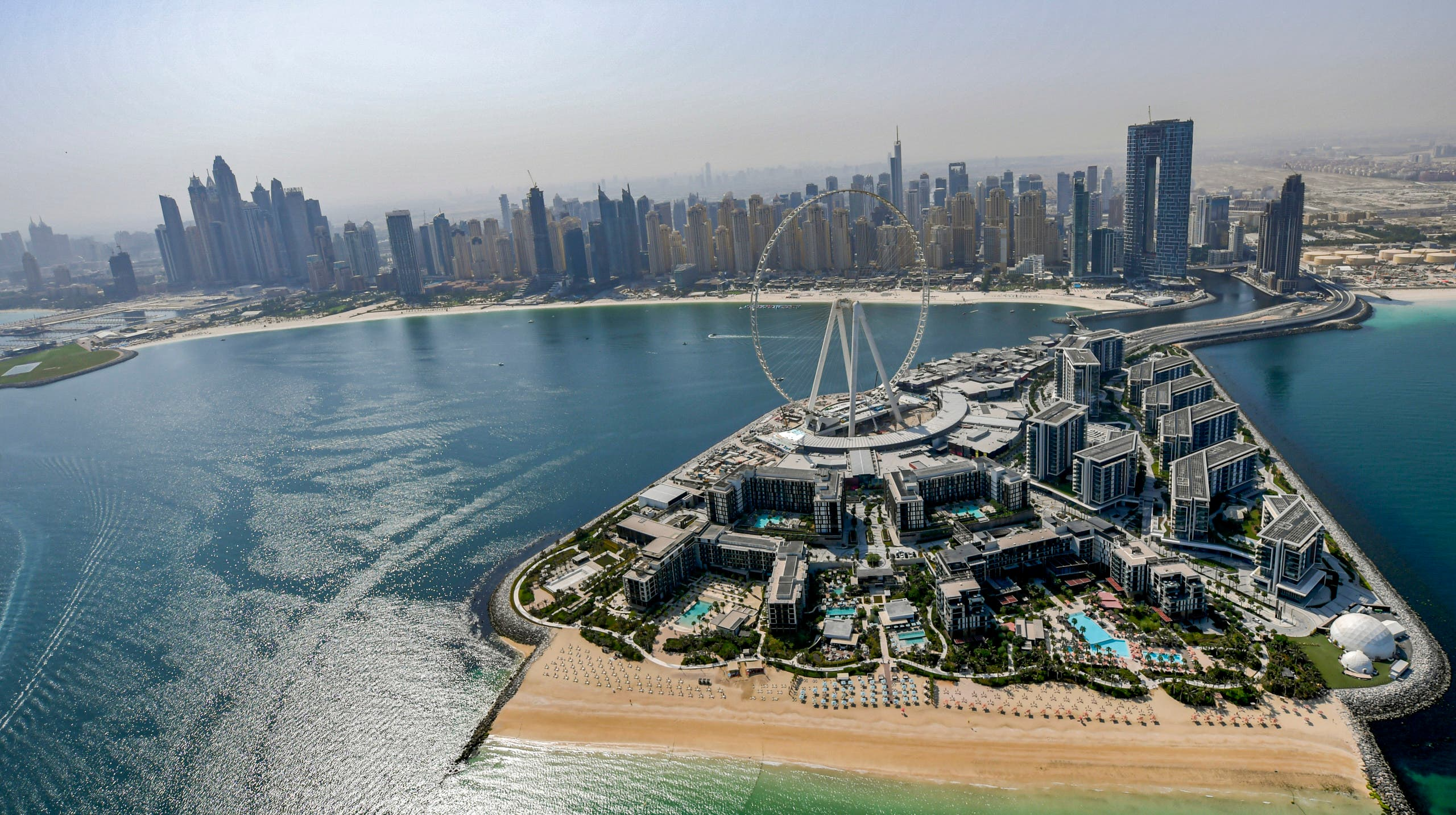 An aerial view of Dubai, United Arab Emirates. (AFP)