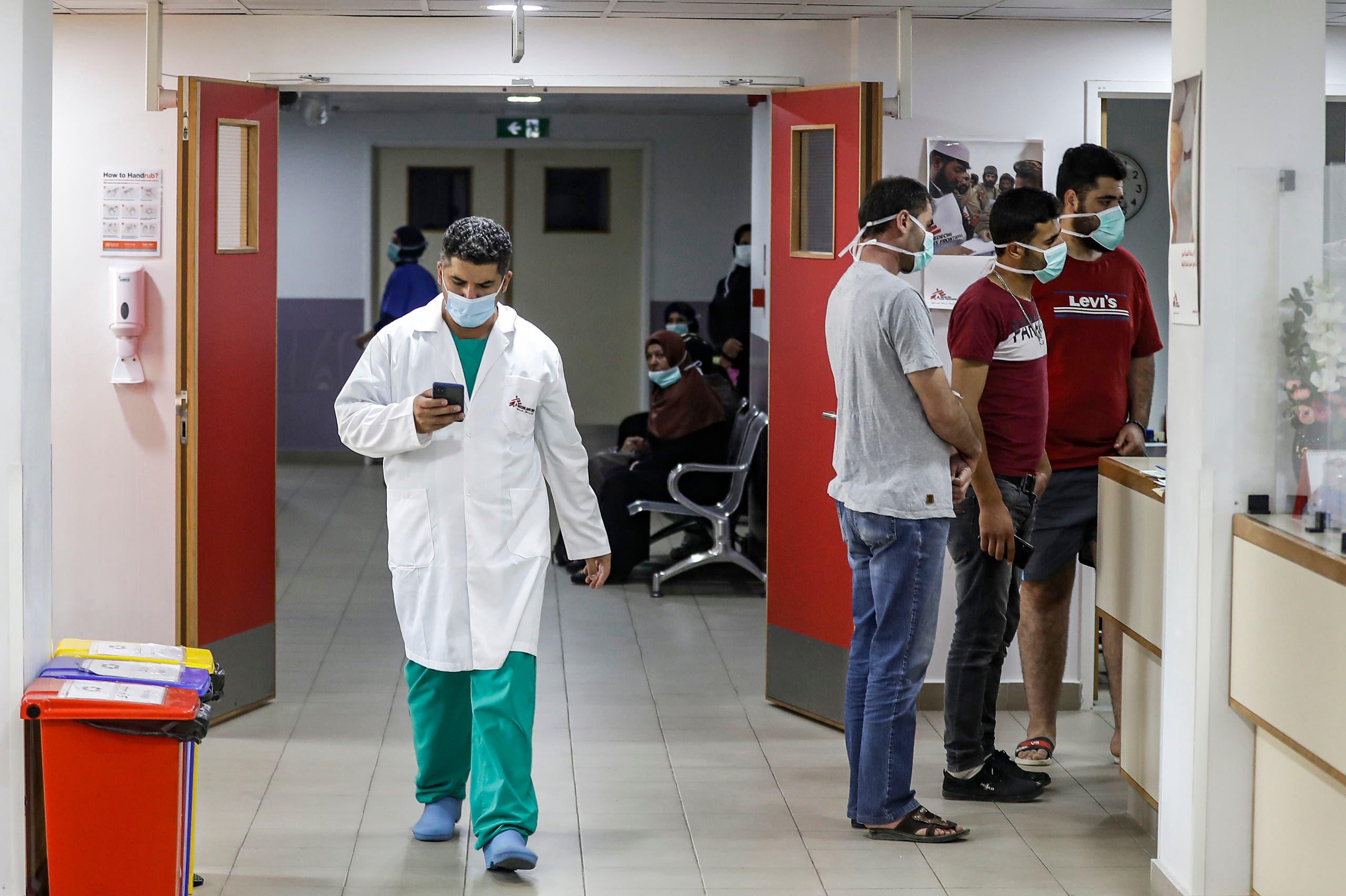 من أحد المستشفيات في لبنان