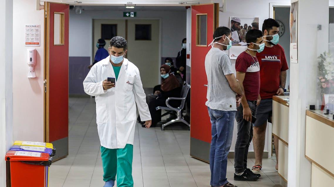 من إحدى المستشفيات في لبنان يوم 21 يوليو