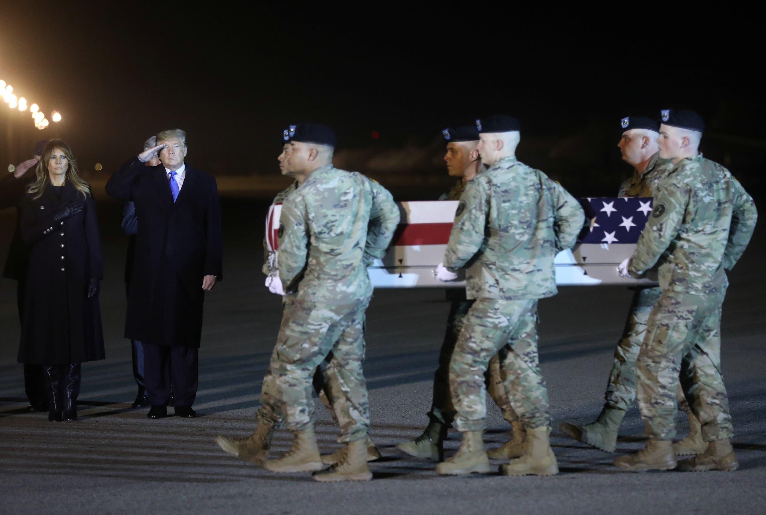 تشييع جندي أميركي قضى في أفغانستان (أرشيفية- رويترز)