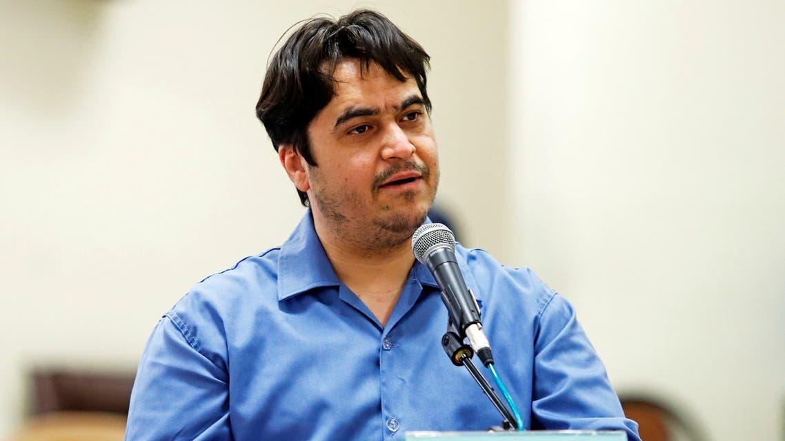 الصحفي الإيراني المعارض روح الله زم(فرانس برس)