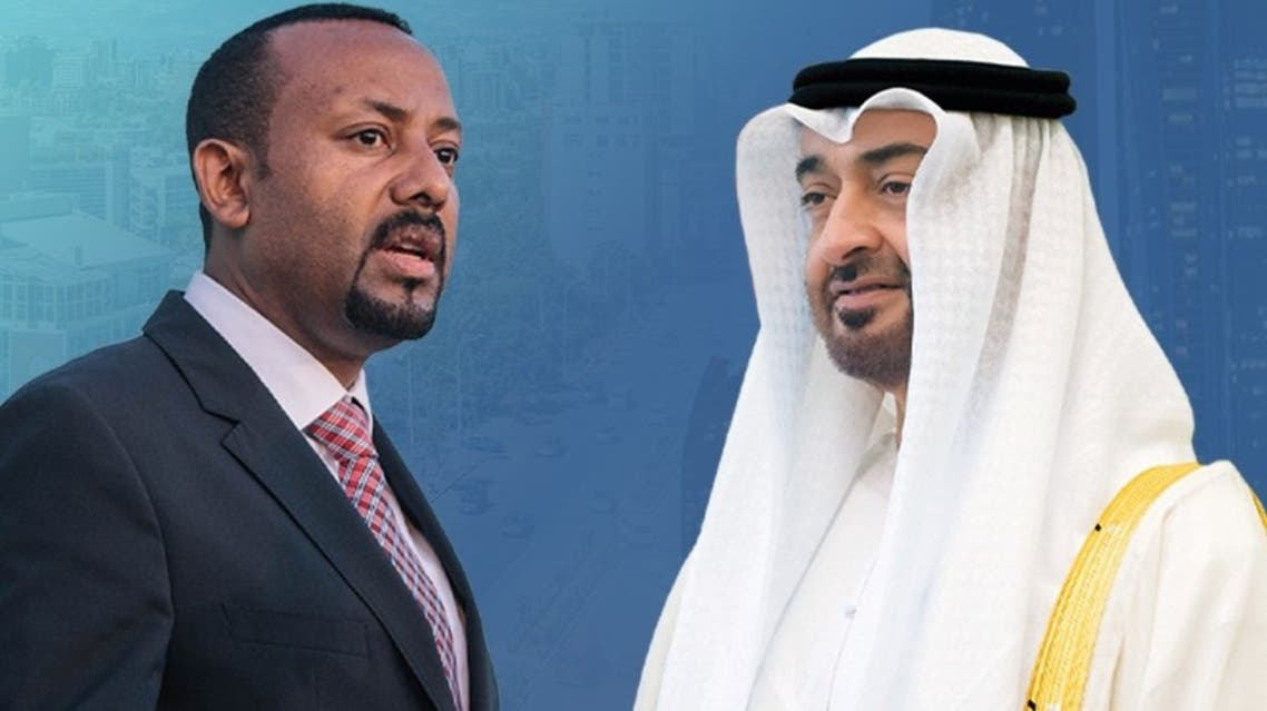 Ethiopian Prime Minister Abyi Ahmed and Sheikh Mohammed bin Zayed Al Nahyan, Crown Prince of Abu Dhabi and Deputy Supreme Commander of the UAE Armed Forces. (Combo photo courtesy: WAM)