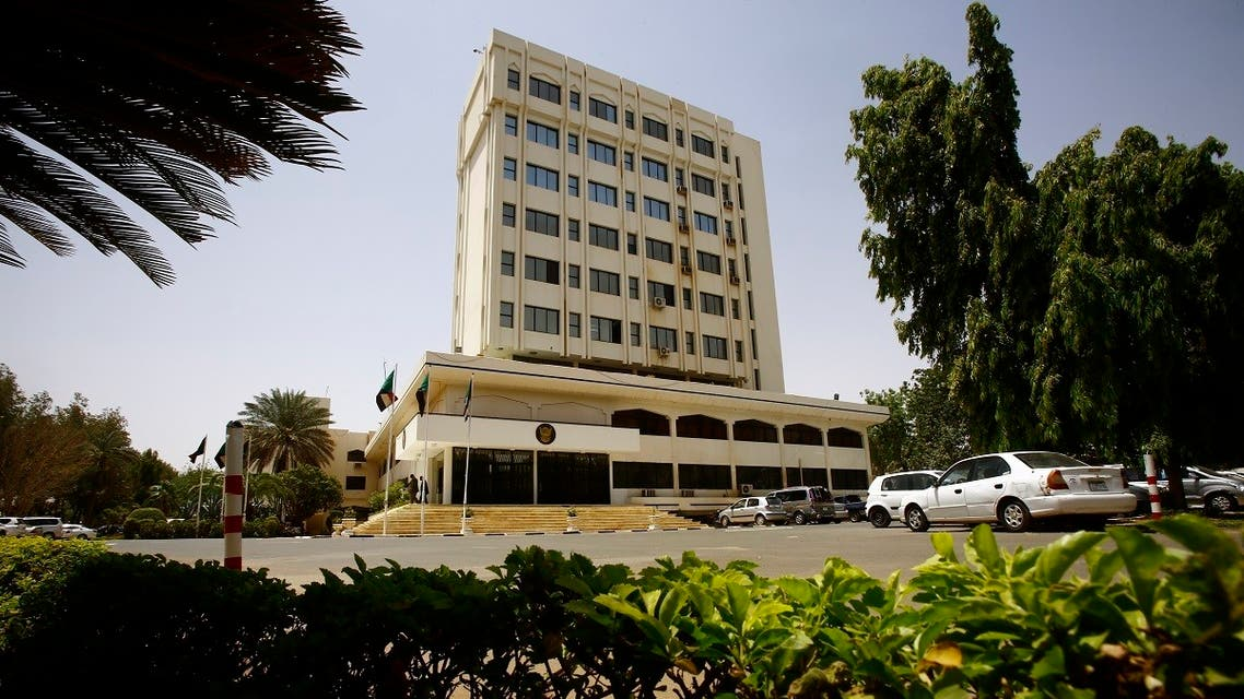 A general view shows the Foreign Ministry building in the Sudanese capital Khartoum on April 20, 2017. (AFP)
