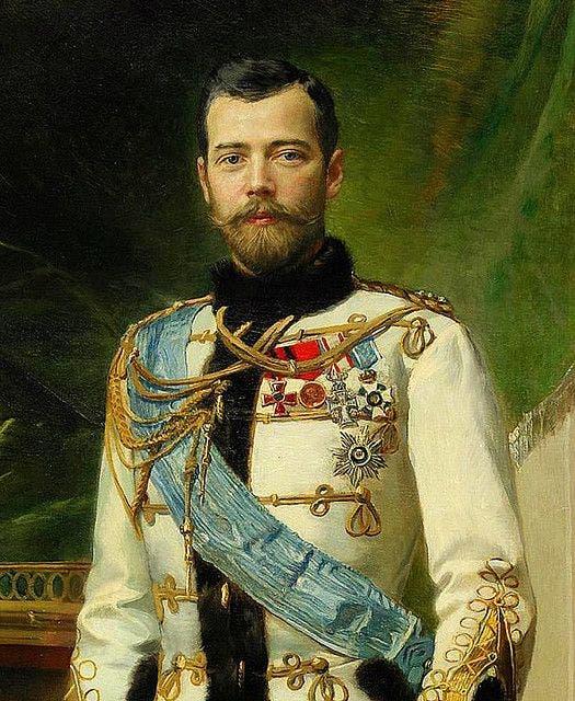 لوحة تجسد امبراطور روسيا نيقولا الثاني