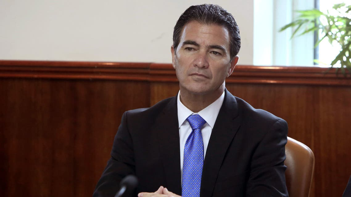 Israel's head of Mossad, Yossi Cohen, attends the weekly cabinet meeting at his office in Jerusalem on Jan. 10, 2016. (AP)