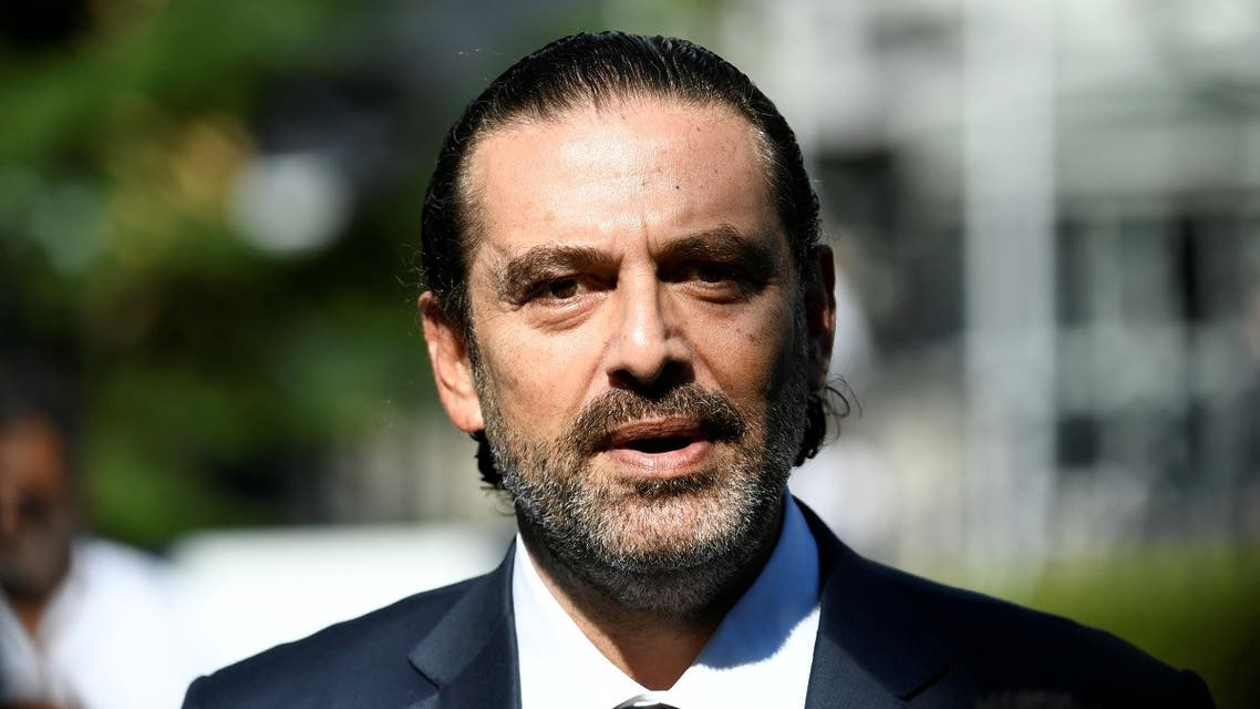 Former Lebanese Prime Minister Saad Hariri speaks to the media after a session of the United Nations-backed Lebanon Tribunal handing down a judgement in the case of four men being tried in absentia for the 2005 bombing that killed former prime minister Rafik al-Hariri and 21 other people, in Leidschendam, Netherlands. (Reuters)
