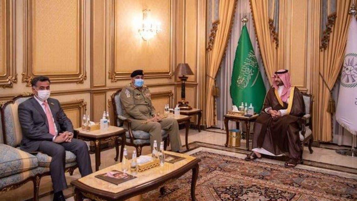 Pakistan COAS and Saudi deputy Defence Minister