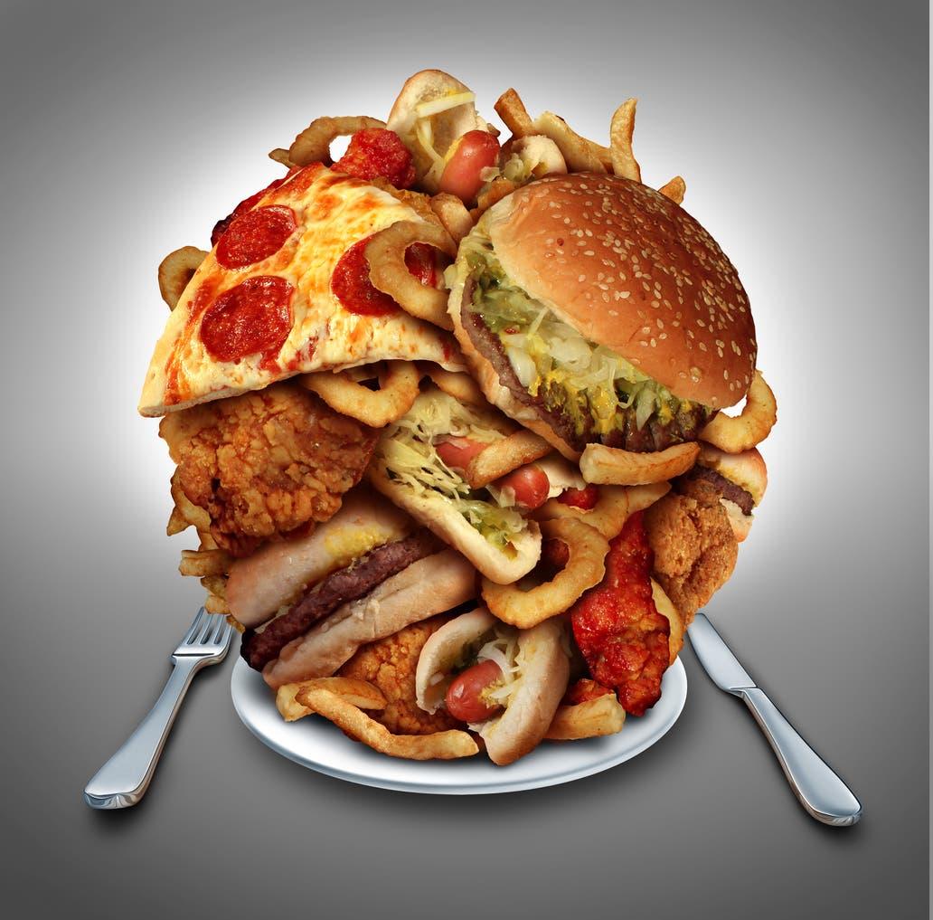 """أطعمة غير صحية """"تعبيرية"""""""