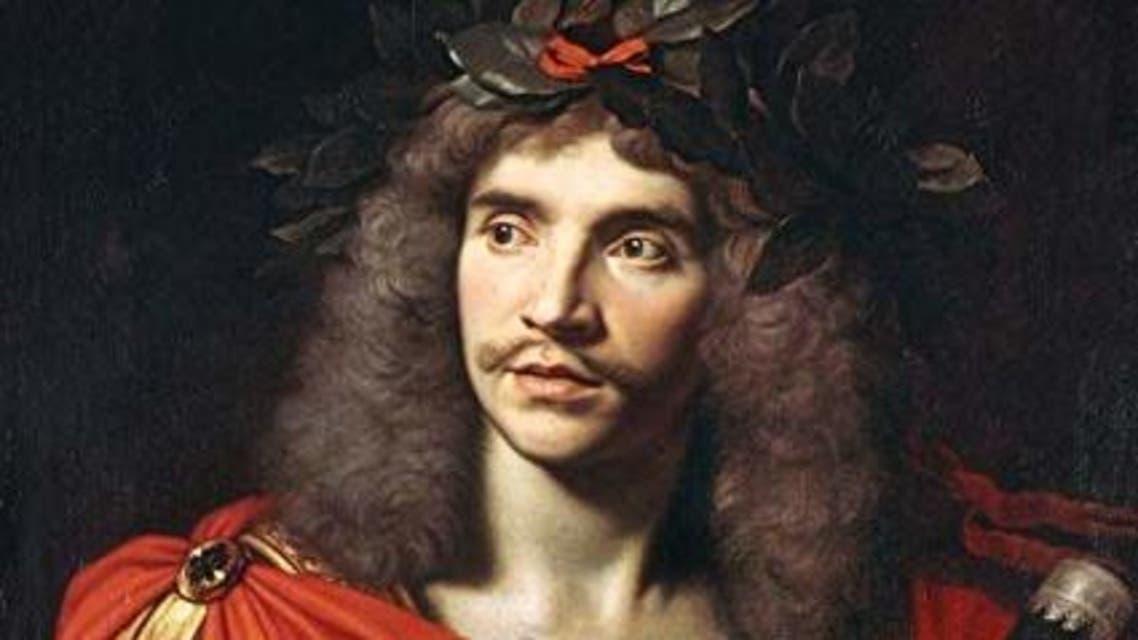 لوحة تجسد المؤلف المسرحي الفرنسي موليير