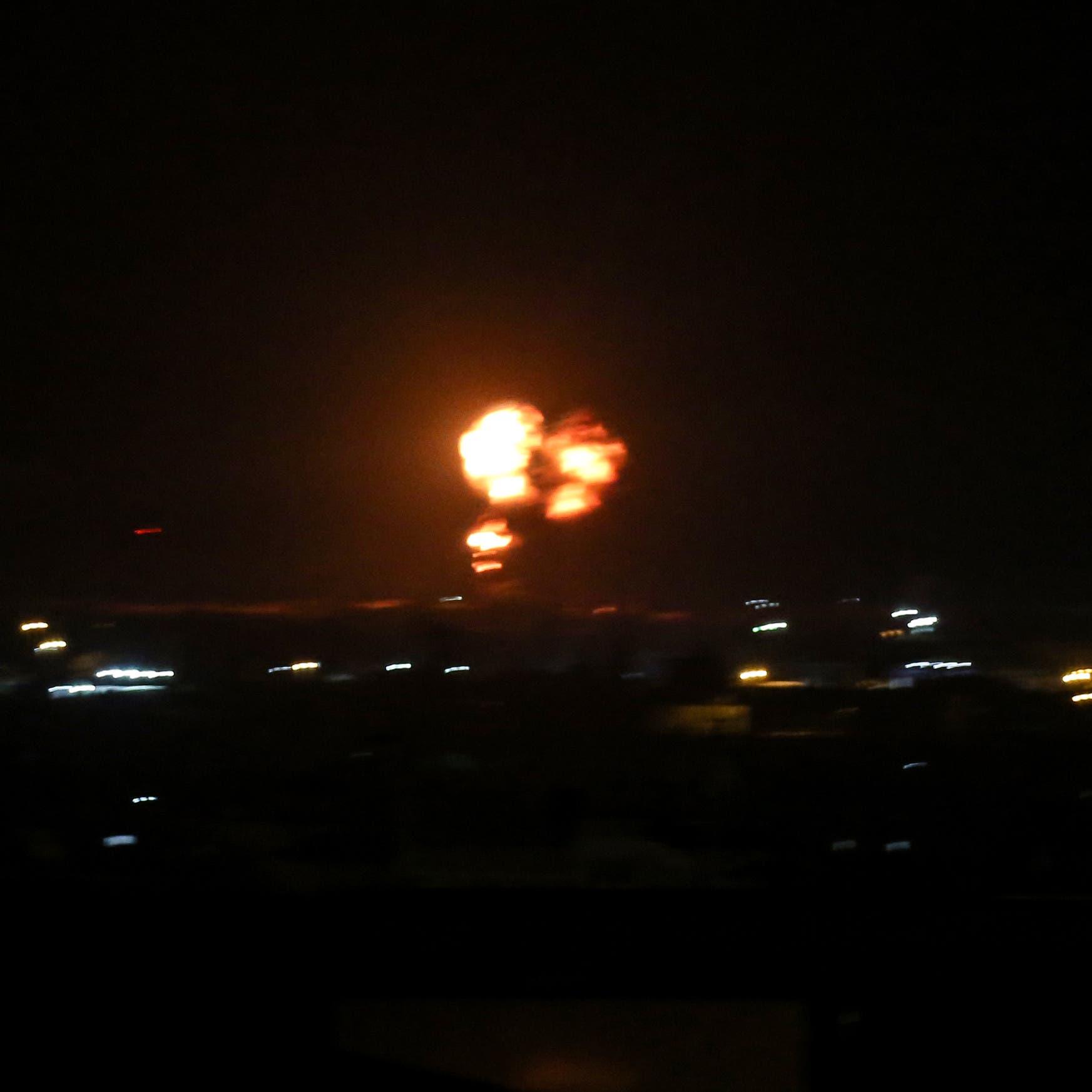 قصف إسرائيلي على غزة رداً على إطلاق بالونات حارقة