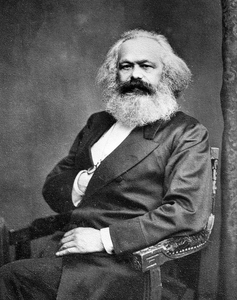 صورة تبرز كارل ماركس ولحيته
