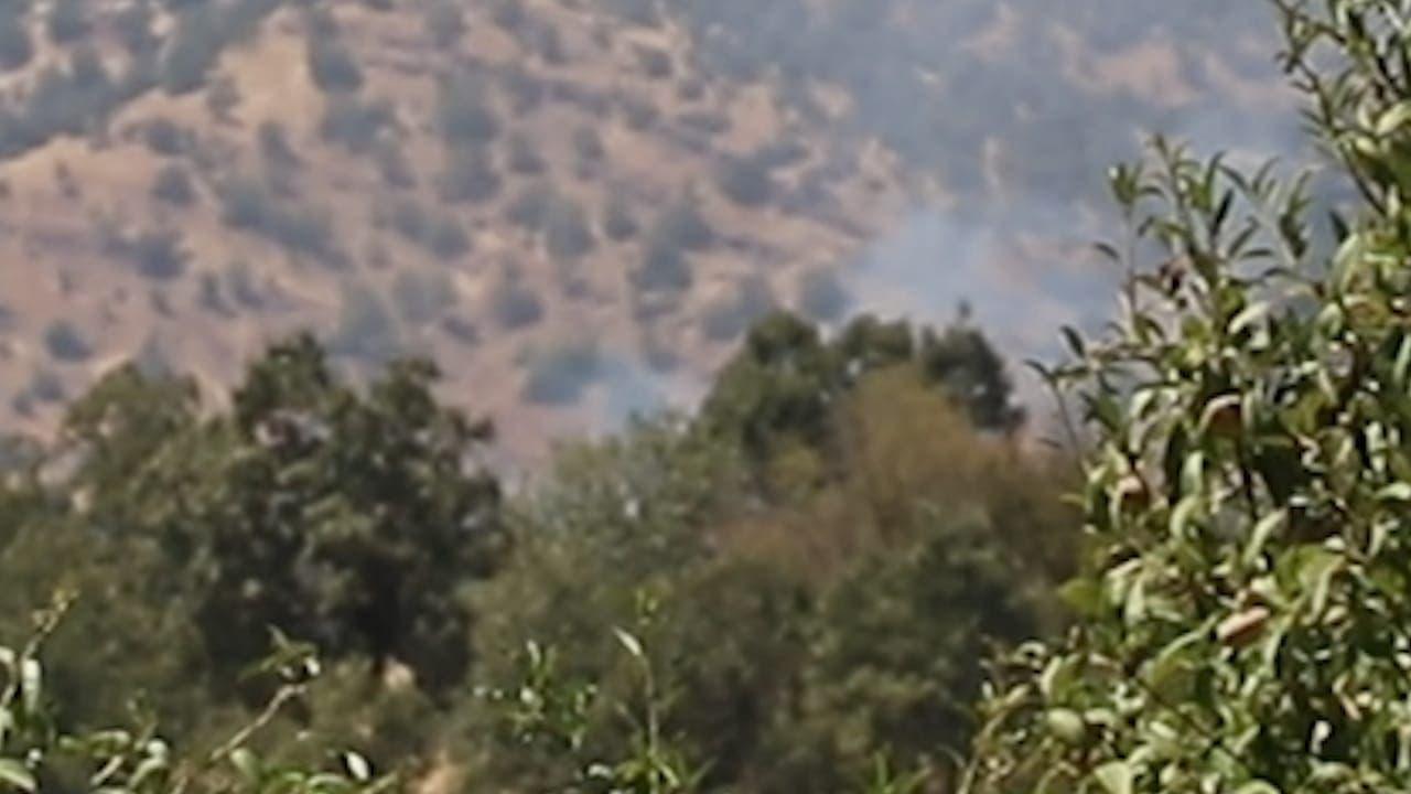 الصور الأولية للقصف التركي اليوم