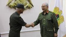 لیبیا کی فوج کے سربراہ خلیفہ حفتر کی مصر کی جنگی انٹیلی جنس کے ڈائریکٹر سے ملاقات