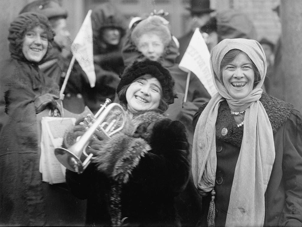 احتجاج نسائي للمطالب بحق الإنتخاب عام 1913