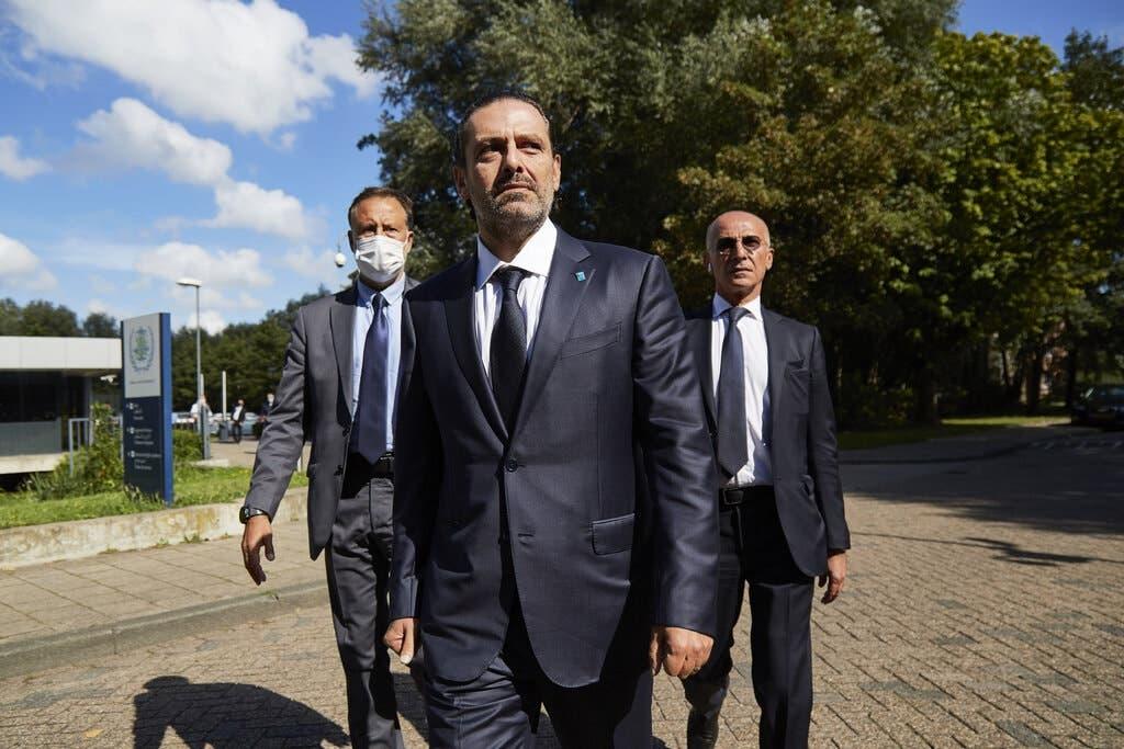 سعد الحريري عقب مغادرة المحكمة