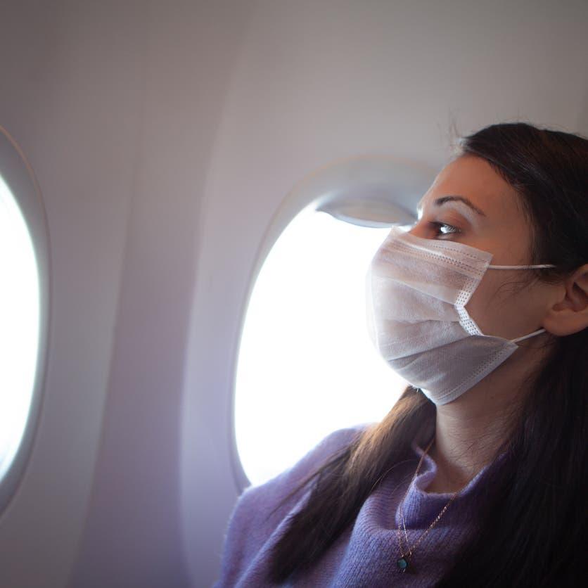 """خبر """"مطمئن"""" عن خطر الإصابة بكورونا خلال السفر بالطائرة"""