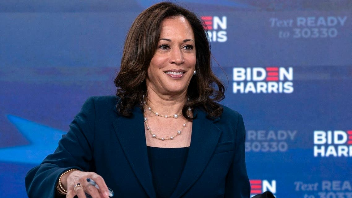 Sen. Kamala Harris signs required documents for receiving the Democratic nomination for Vice President, Aug. 14, 2020. (AP)