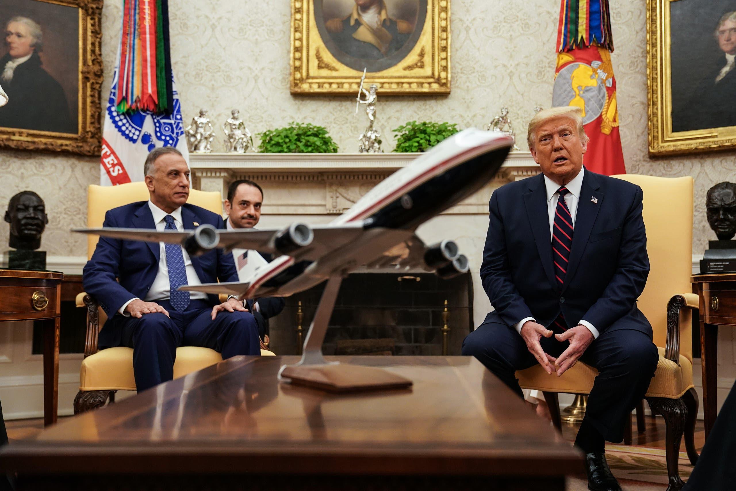 من لقاء ترمب والكاظمي في البيت الأبيض