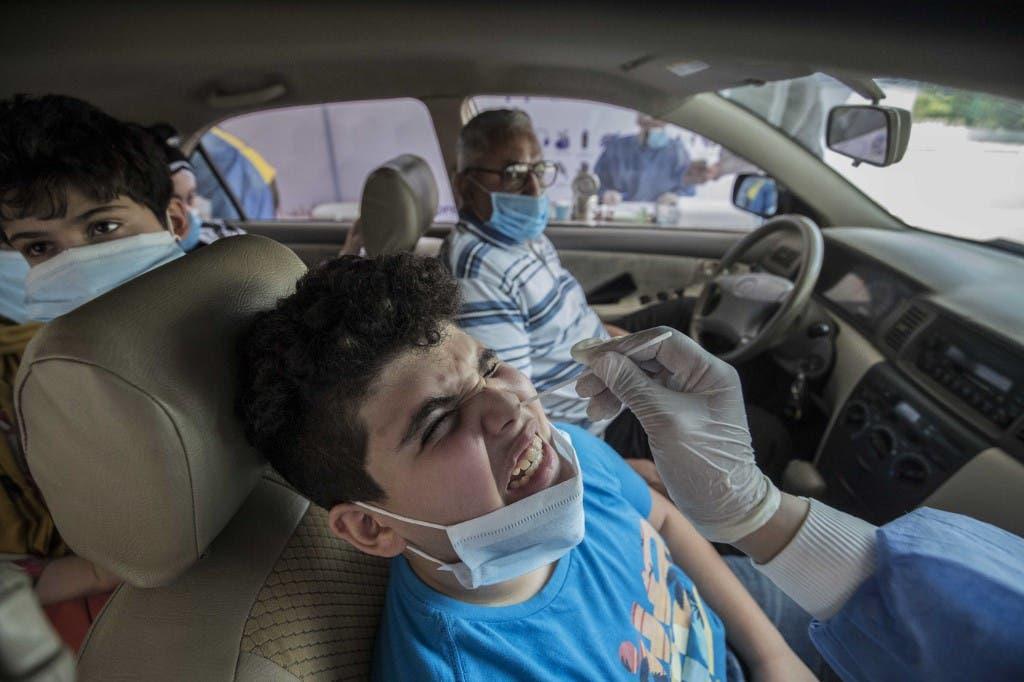 من مراكز فحص فيروس كورونا القاهرة - فرانس برس