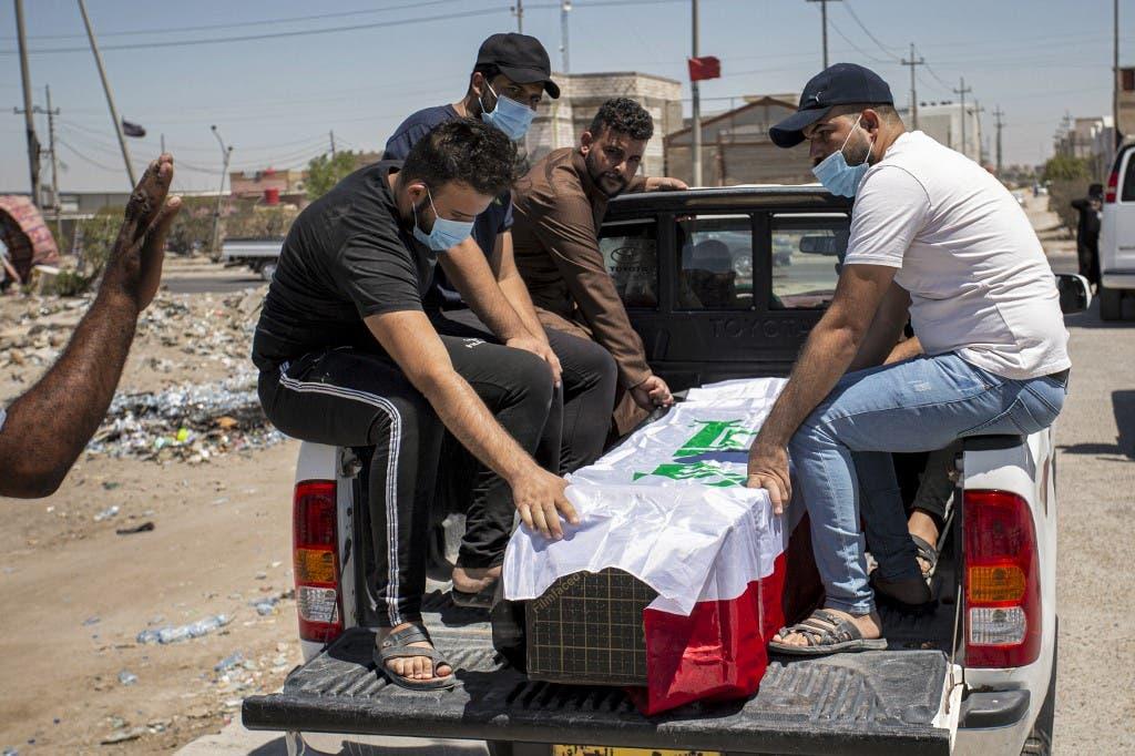 جثمان الناشطة العراقية ريهام يعقوب - فرانس برس