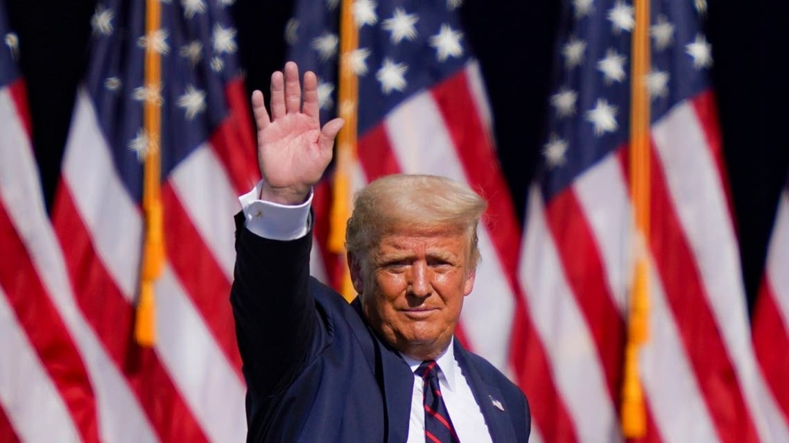 AP_202US President Donald Trump waves to the audience after speaking at a campaign rally on Aug. 20, 2020, in Pennslyvania. (AP)