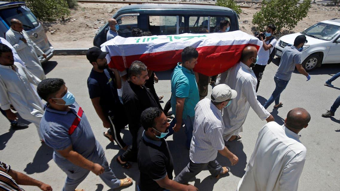 خلال جنازة ريهام يعقوب بالبصرة يوم 20 أغسطس