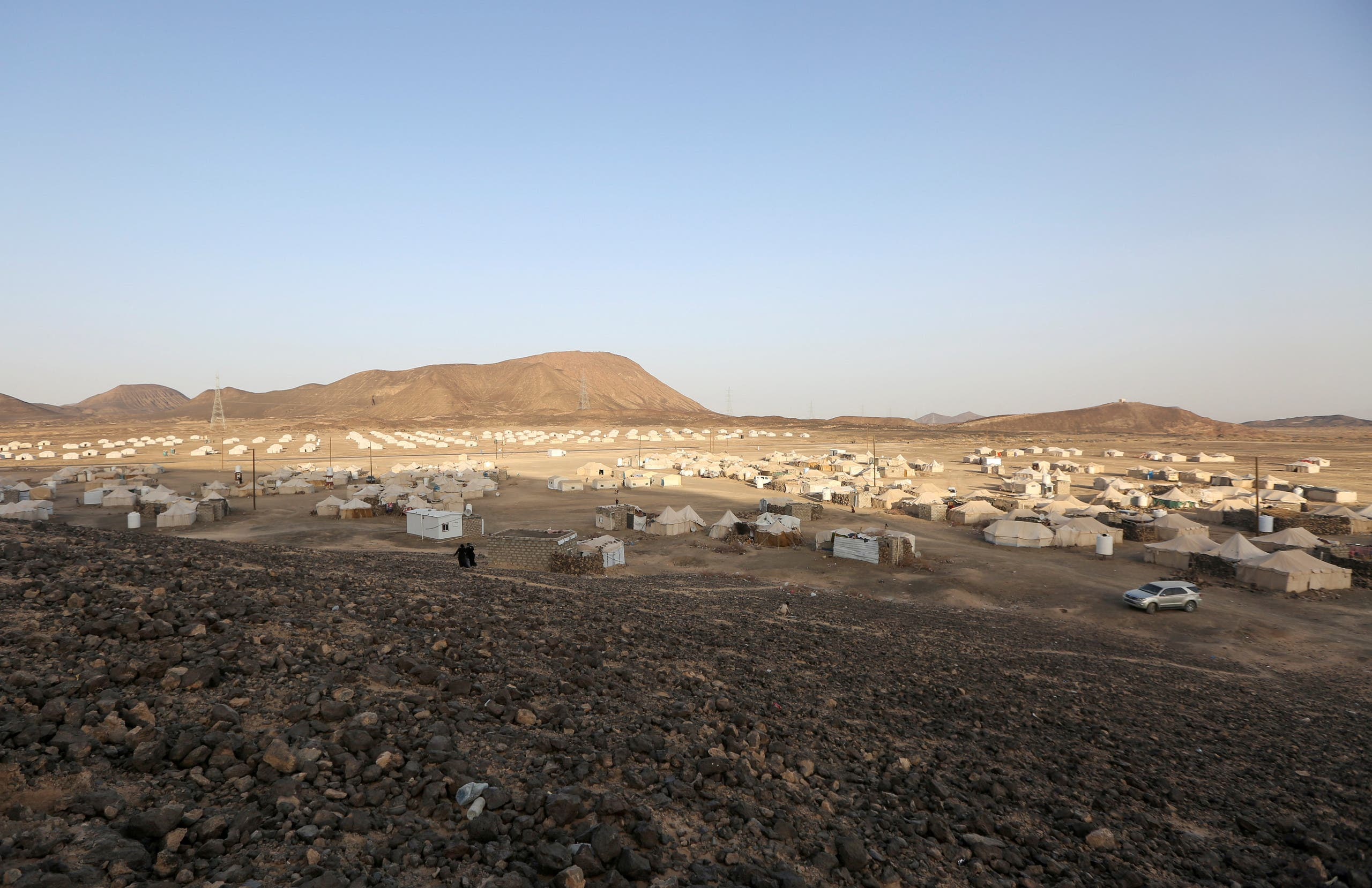 مخيم نازحين في مأرب (أرشيفية)
