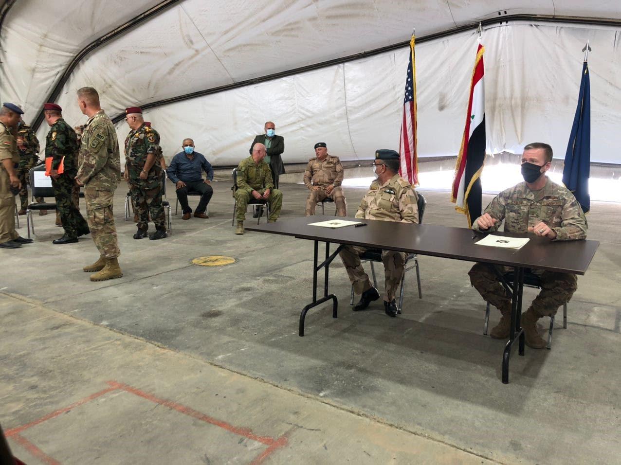 من تسليم قاعدة التاجي للجيش العراقي