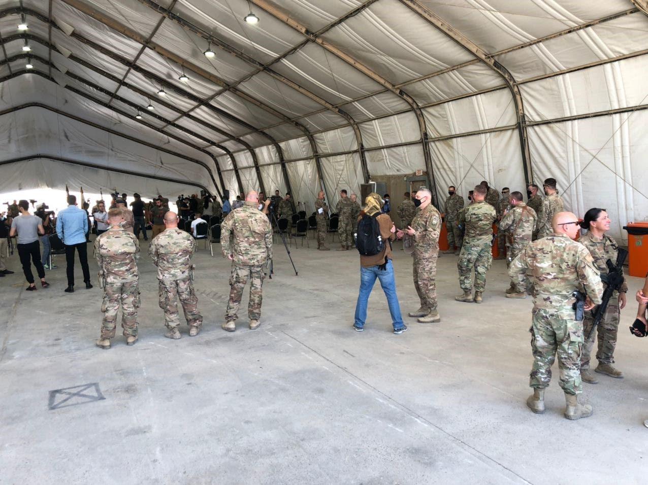 من تسليم قاعدة التاجي للجيش