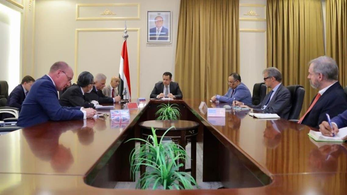 رئيس الحكومة اليمنية الشرعية معين عبدالملك