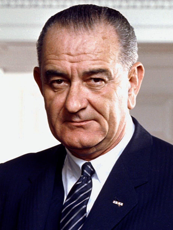 صورة للرئيس الأميركي ليندون جونسون