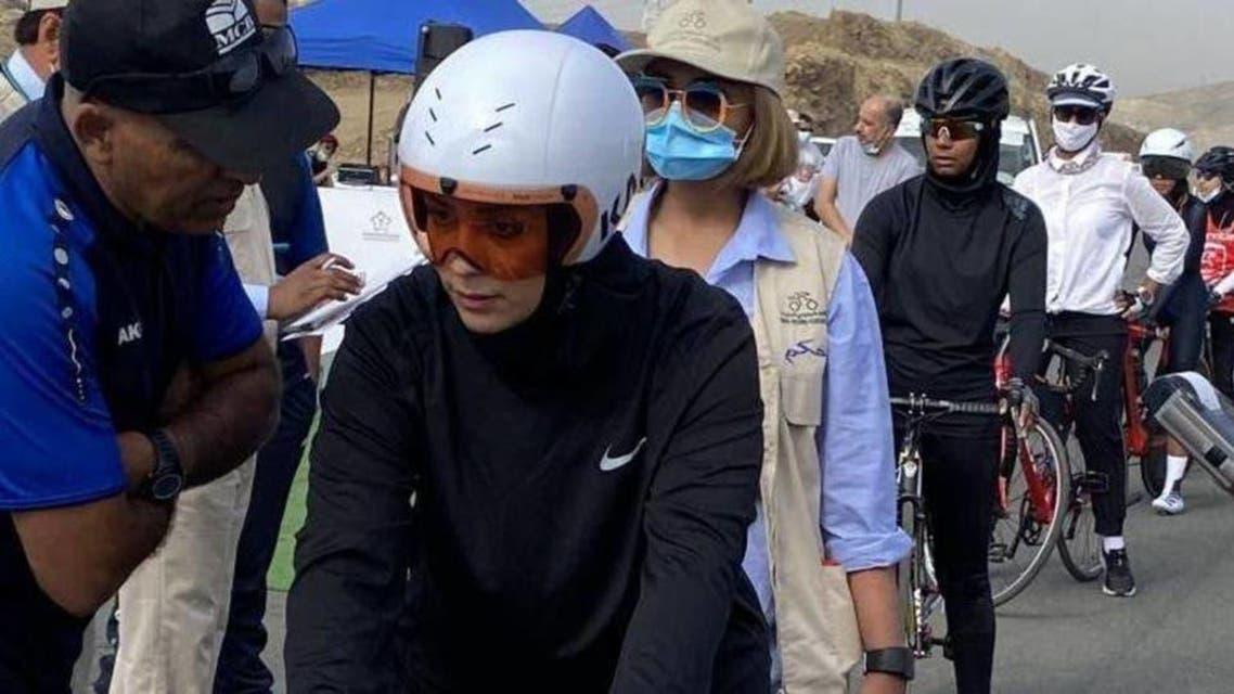 Saudi cyclist