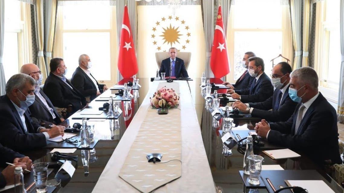 Erdogan meets with Hamas leaders despite $5 mln US bounty, terror designations