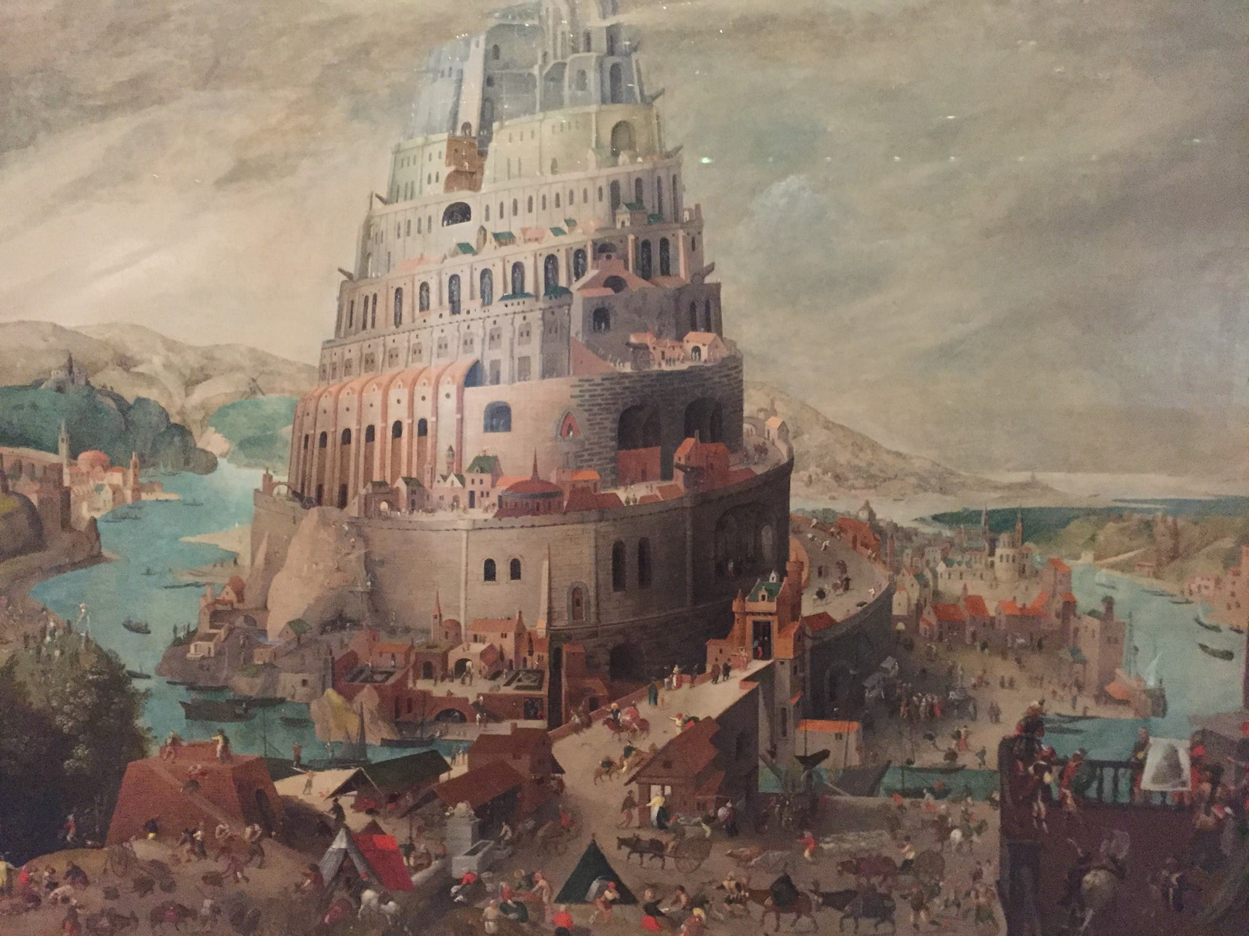 Tower of Babel oil painting at the Louvre Abu Dhabi. (Supplied)