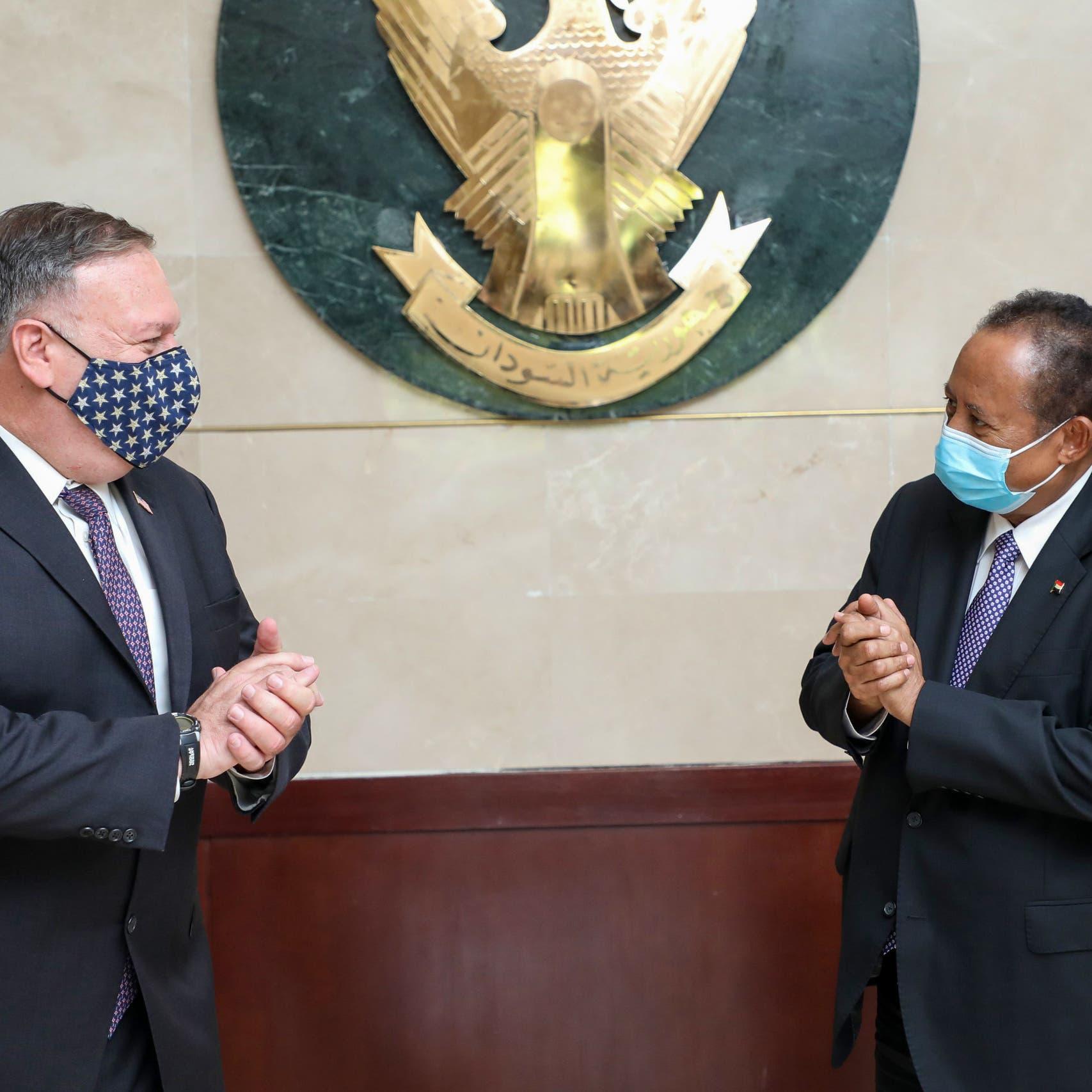 بومبيو يبحث مع حمدوك خطوات رفع السودان من قائمة الإرهاب
