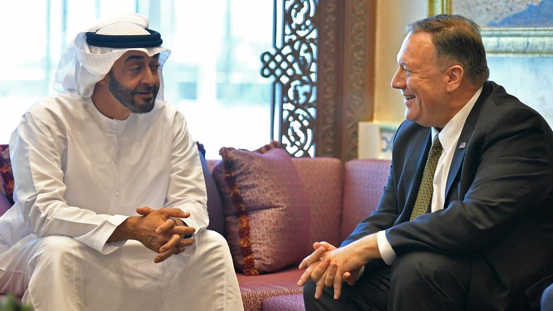 من لقاء مايك بومبيو ومحمد بن زايد في أبوظبي يوم 19 سبتمبر 2019