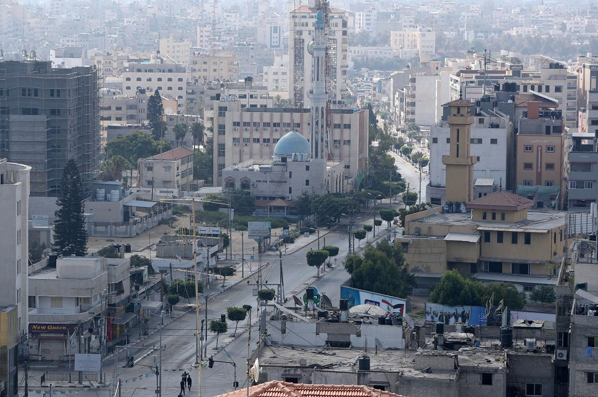 A view shows an almost empty street during a lockdown after Gaza reported its first cases of the coronavirus disease in Gaza City August 25, 2020. (Reuters)