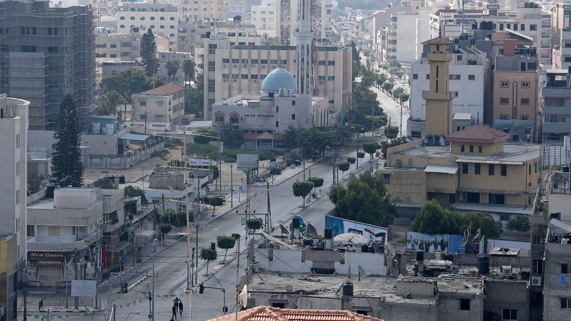 A view shows an almost empty street during a lockdown after Gaza reported its first cases of the coronavirus disease (COVID-19) in the general population, in Gaza City August 25, 2020. (Reuters)