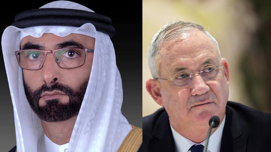 My Post (Emirati defense minister Mohammed bin Ahmad Al Bawardi and Israeli defense minister Benny Gantz, right. (WAM/Reuters))333