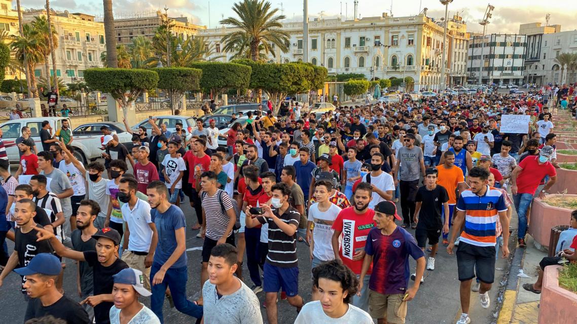 من ميدان الشهداء وسط طرابلس يوم 24 أغسطس