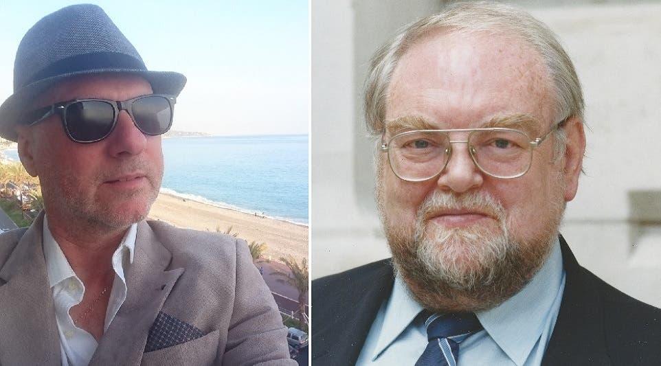 الدكتور جيم هور، الى اليمين، يعتقد بأن الزعيم الكوري لا يزال حيا، والصحافي البريطاني روي كالّي، يقول العكس تماما
