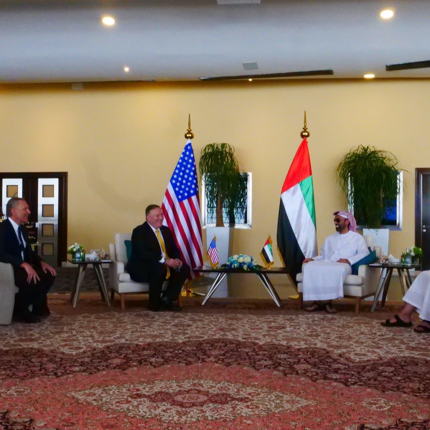 بومبيو: اتفاق الإمارات وإسرائيل خطوة نحو السلام بالمنطقة